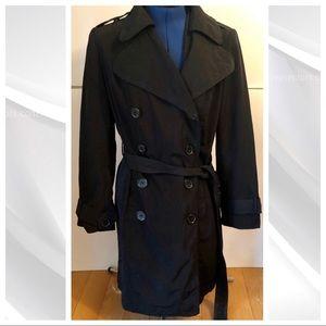 NY & Co. | Women's Black Trench Coat lg